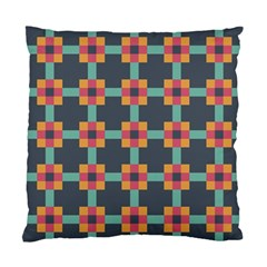 Squares Geometric Abstract Background Standard Cushion Case (one Side)