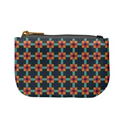 Squares Geometric Abstract Background Mini Coin Purses
