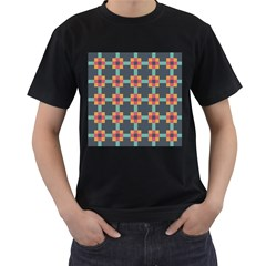 Squares Geometric Abstract Background Men s T Shirt (black)