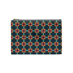 Squares Geometric Abstract Background Cosmetic Bag (medium)