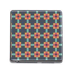 Squares Geometric Abstract Background Memory Card Reader (square)