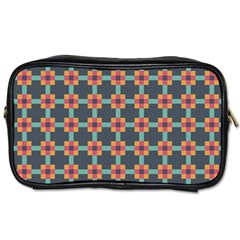 Squares Geometric Abstract Background Toiletries Bags 2 Side