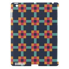 Squares Geometric Abstract Background Apple Ipad 3/4 Hardshell Case (compatible With Smart Cover)