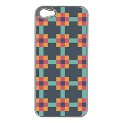 Squares Geometric Abstract Background Apple Iphone 5 Case (silver)