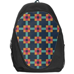 Squares Geometric Abstract Background Backpack Bag