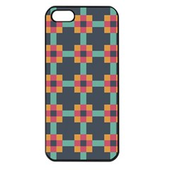 Squares Geometric Abstract Background Apple Iphone 5 Seamless Case (black)