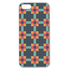 Squares Geometric Abstract Background Apple Seamless Iphone 5 Case (clear)
