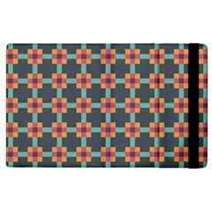 Squares Geometric Abstract Background Apple Ipad 2 Flip Case