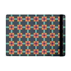 Squares Geometric Abstract Background Apple Ipad Mini Flip Case