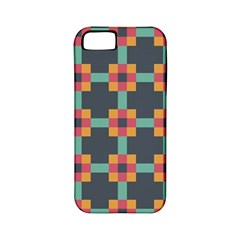 Squares Geometric Abstract Background Apple Iphone 5 Classic Hardshell Case (pc+silicone)