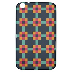 Squares Geometric Abstract Background Samsung Galaxy Tab 3 (8 ) T3100 Hardshell Case