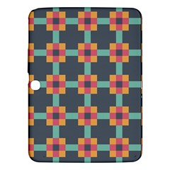 Squares Geometric Abstract Background Samsung Galaxy Tab 3 (10 1 ) P5200 Hardshell Case
