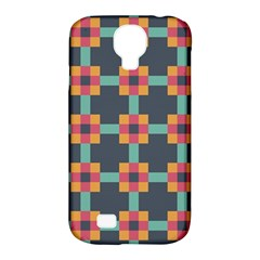 Squares Geometric Abstract Background Samsung Galaxy S4 Classic Hardshell Case (pc+silicone)