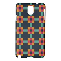 Squares Geometric Abstract Background Samsung Galaxy Note 3 N9005 Hardshell Case