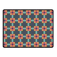 Squares Geometric Abstract Background Double Sided Fleece Blanket (small)