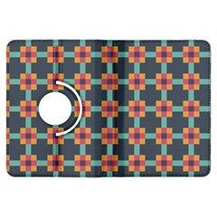 Squares Geometric Abstract Background Kindle Fire Hdx Flip 360 Case