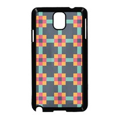 Squares Geometric Abstract Background Samsung Galaxy Note 3 Neo Hardshell Case (black)