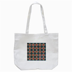 Squares Geometric Abstract Background Tote Bag (white)