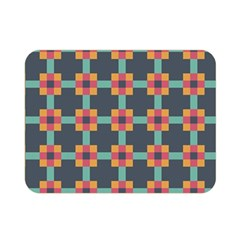 Squares Geometric Abstract Background Double Sided Flano Blanket (mini)