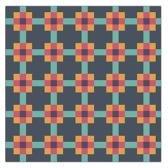 Squares Geometric Abstract Background Large Satin Scarf (square)