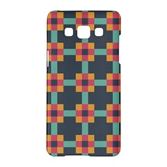 Squares Geometric Abstract Background Samsung Galaxy A5 Hardshell Case