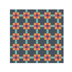 Squares Geometric Abstract Background Small Satin Scarf (square)