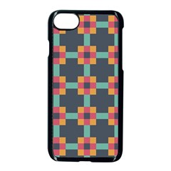 Squares Geometric Abstract Background Apple Iphone 7 Seamless Case (black)
