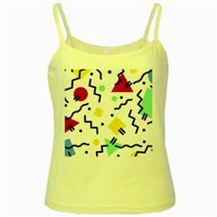 Art Background Abstract Unique Yellow Spaghetti Tank