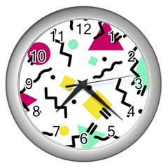 Art Background Abstract Unique Wall Clocks (silver)