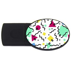 Art Background Abstract Unique Usb Flash Drive Oval (2 Gb)