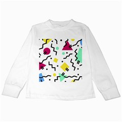 Art Background Abstract Unique Kids Long Sleeve T Shirts