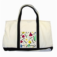Art Background Abstract Unique Two Tone Tote Bag