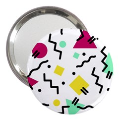 Art Background Abstract Unique 3  Handbag Mirrors