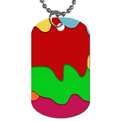 Liquid Forms Water Background Dog Tag (one Side)