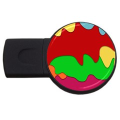 Liquid Forms Water Background Usb Flash Drive Round (4 Gb)