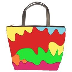 Liquid Forms Water Background Bucket Bags