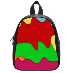 Liquid Forms Water Background School Bag (small)