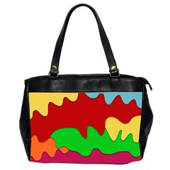 Liquid Forms Water Background Office Handbags (2 Sides)
