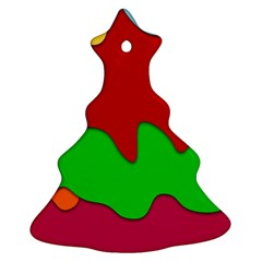 Liquid Forms Water Background Christmas Tree Ornament (two Sides)