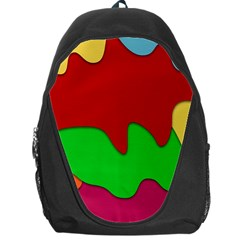 Liquid Forms Water Background Backpack Bag