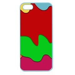 Liquid Forms Water Background Apple Seamless Iphone 5 Case (color)