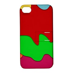 Liquid Forms Water Background Apple Iphone 4/4s Hardshell Case With Stand