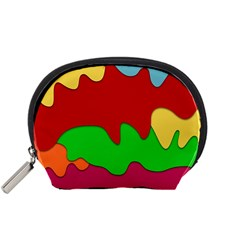 Liquid Forms Water Background Accessory Pouches (small)