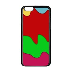 Liquid Forms Water Background Apple Iphone 6/6s Black Enamel Case
