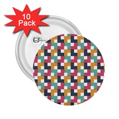 Background Abstract Geometric 2 25  Buttons (10 Pack)