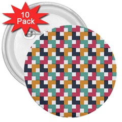 Background Abstract Geometric 3  Buttons (10 Pack)