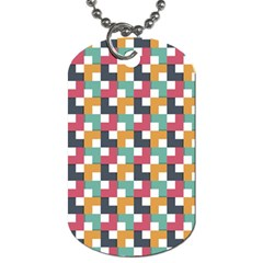 Background Abstract Geometric Dog Tag (one Side)