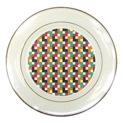 Background Abstract Geometric Porcelain Plates