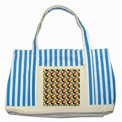Background Abstract Geometric Striped Blue Tote Bag