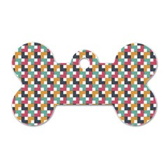 Background Abstract Geometric Dog Tag Bone (two Sides)